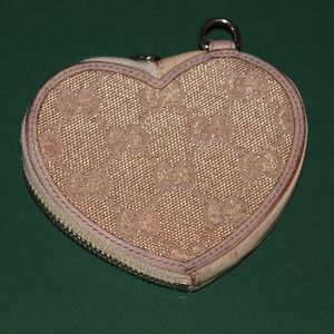 Authentic Gucci Monogram Heart Coin Pouch